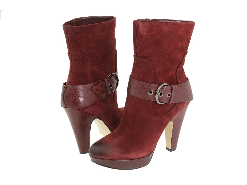 Nine West - Caragh (Wine/Wine Suede) Women's Dress Zip Boots