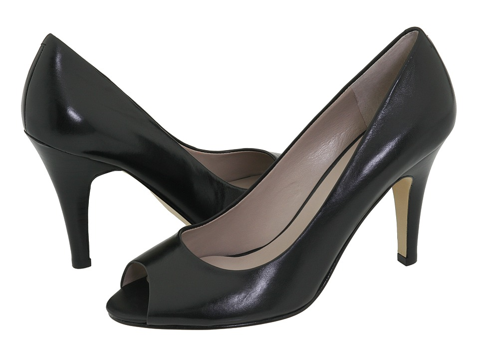 Nine West - Skylark (Black Leather) High Heels