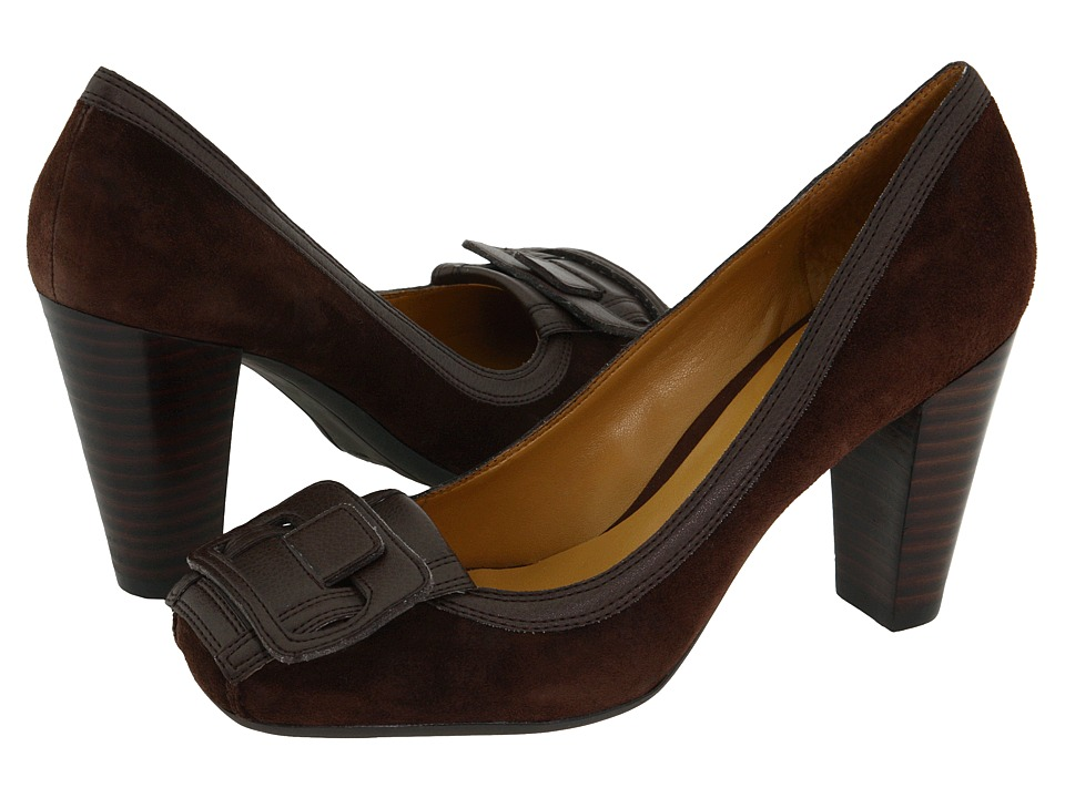 Nine West - Pugnose (Dark Brown/Dark Brown Suede) High Heels