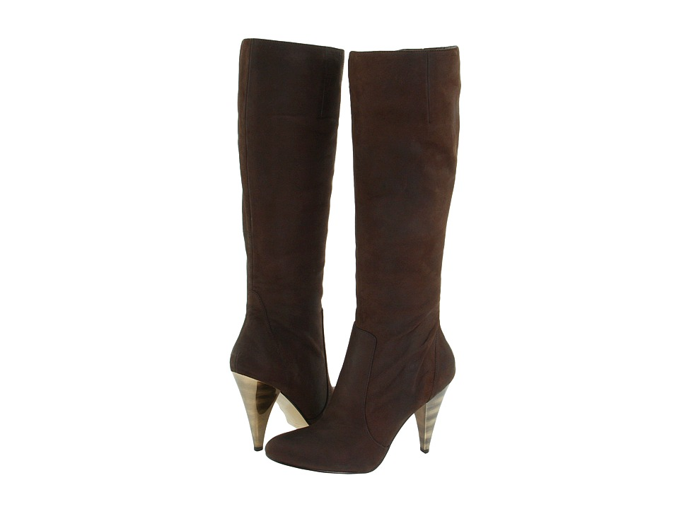 Nine West - Quirce (Dark Brown Leather) Women's Dress Zip Boots