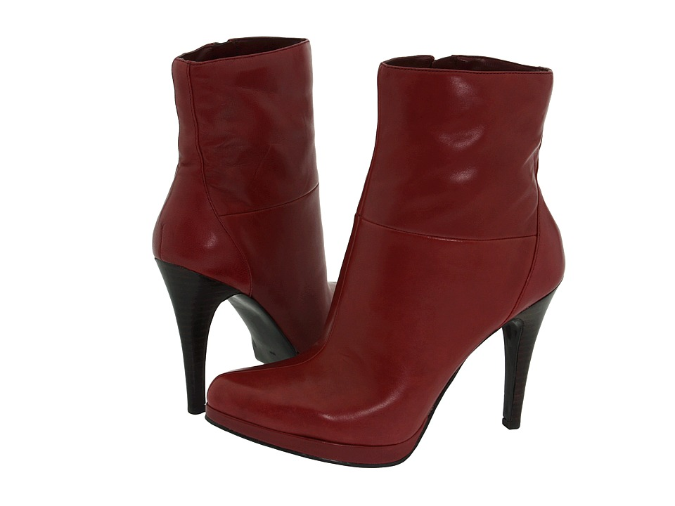 Nine West - Randie (Wine Leather) Women's Dress Zip Boots