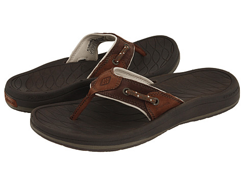 Columbia - PFG Dock Flip (Tobacco/Bark) Men's Sandals