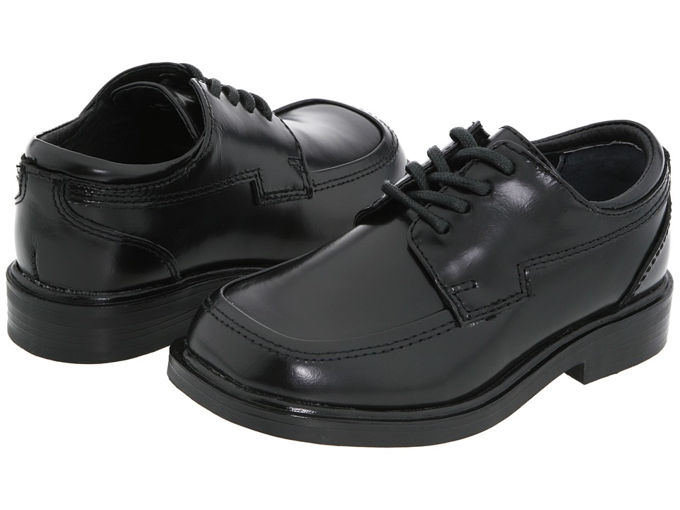 Kenneth Cole Reaction Kids - T-Flex (Toddler/Little Kid) (Black Leather) Boys Shoes