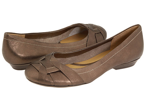 Naturalizer - Maude (Nickel Alloy Metallic Smoke Leather) Women's Flat Shoes