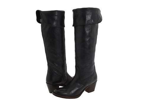 Frye - Jane Tall Cuff (Black) Women