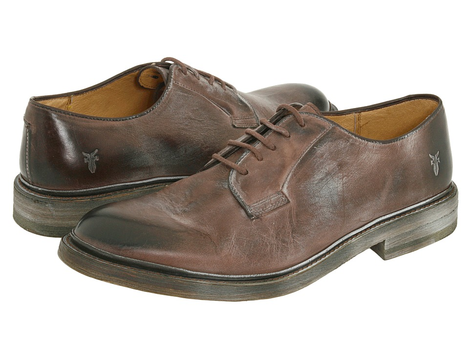 Frye - James Oxford (Brown Antique Leather) Men's Lace up casual Shoes