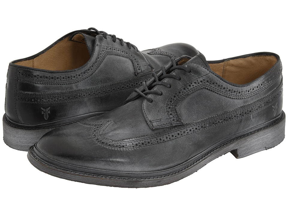 Frye - James Wingtip (Black) Men's Lace Up Wing Tip Shoes