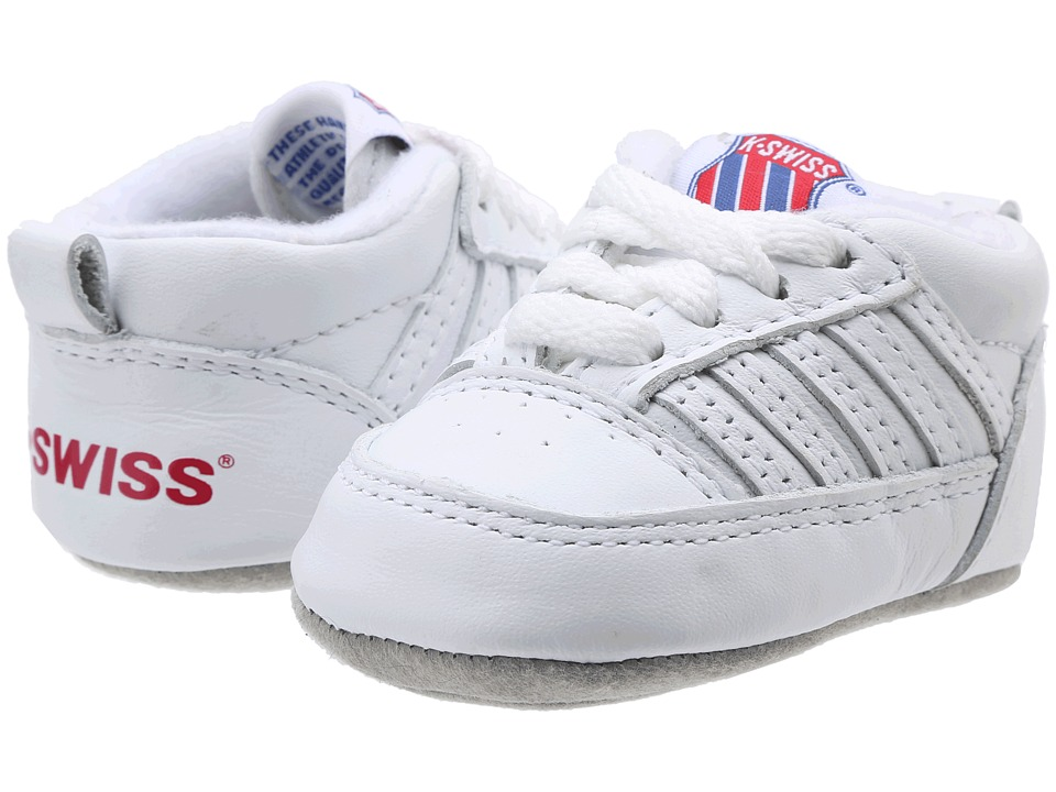 K-Swiss Kids - Crib 5-Stripetm (Infant) (White) Kids Shoes