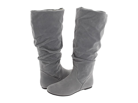 rsvp - Wynona (Extra Wide Calf) (Grey Mirco Suede) Women's Dress Pull-on Boots