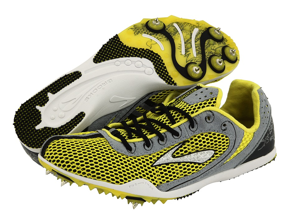 Brooks The Wire (Blazing Yellow/Black/Passat Grey/White) Track Shoes