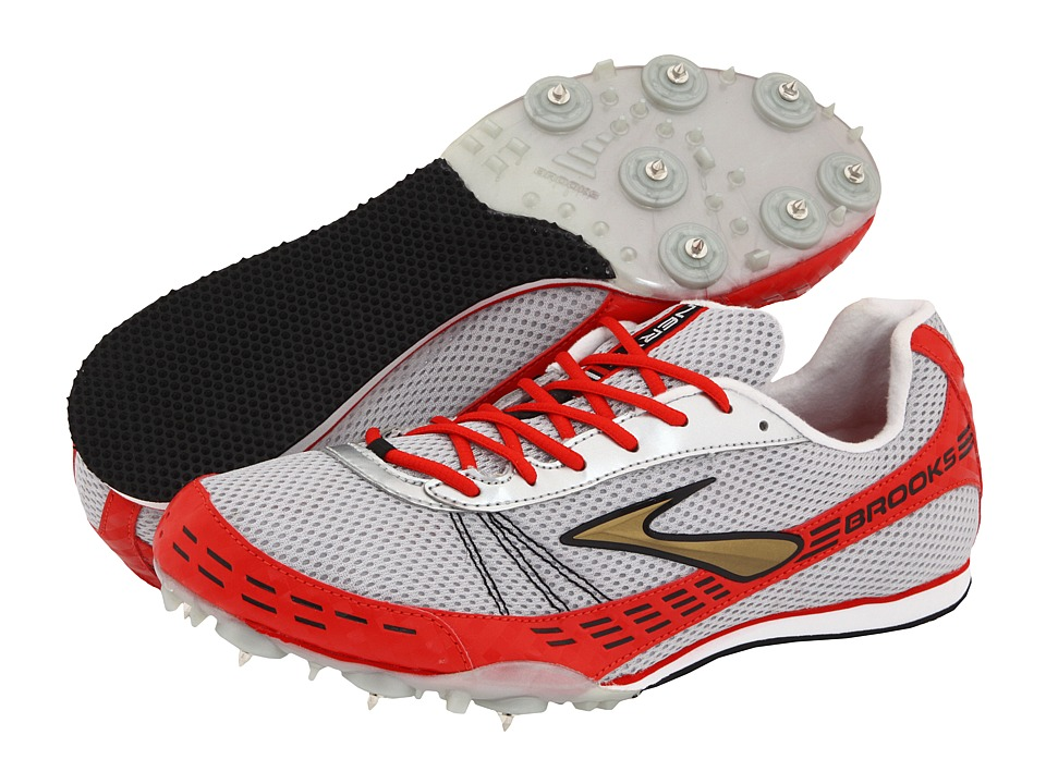Brooks Nerve LD (Silver/Scarlet/Metallic Gold/Black) Running Shoes