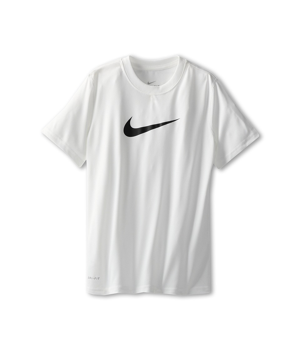 Nike Kids - Essentials Legend S/S Top (Little Kids/Big Kids) (White) Boy's Workout