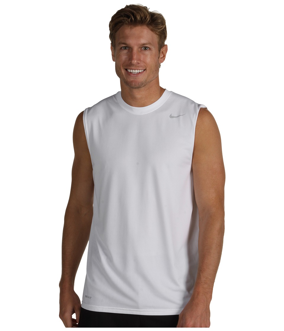 Nike - Dri-FIT Legend Sleeveless Training Shirt (White) Men's Sleeveless