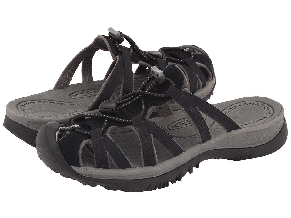 Keen - Whisper Slide (Black/Gargoyle) Women's Sandals