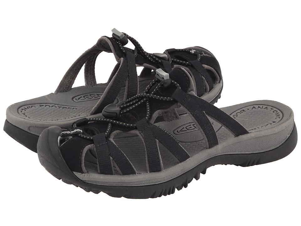 Keen - Whisper Slide (Black/Gargoyle) Women's Sandals