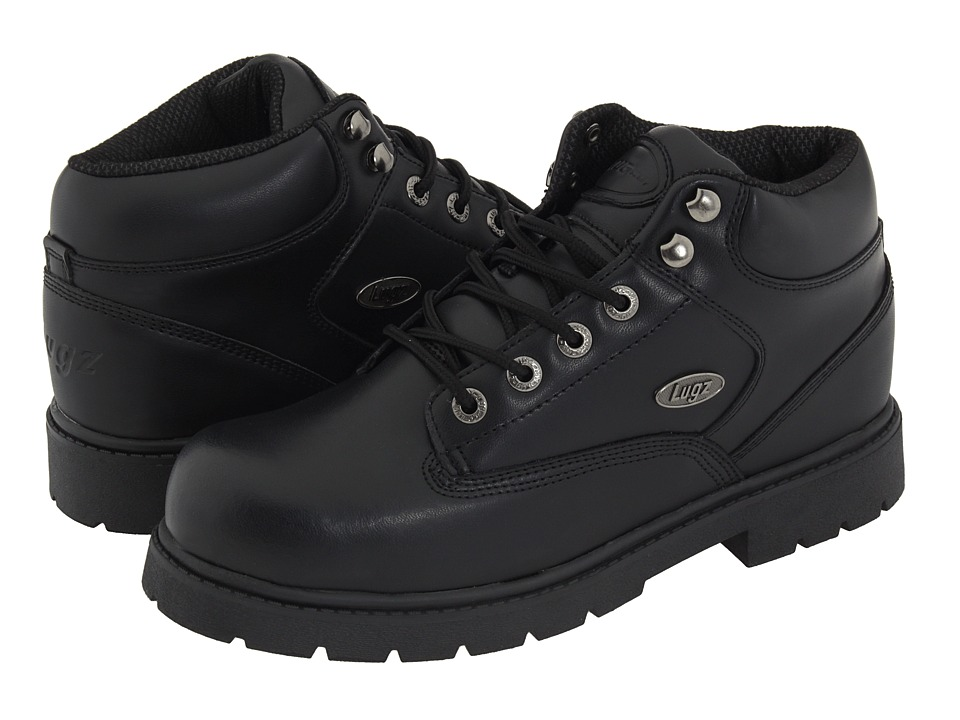 Lugz - Zone Hi SR (Black Leather) Men's Work Lace-up Boots