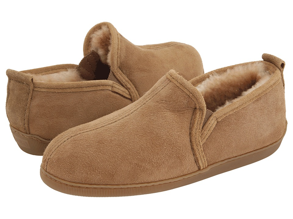 Minnetonka - Twin Gore Sheepskin (Golden Tan Sheepskin) Men
