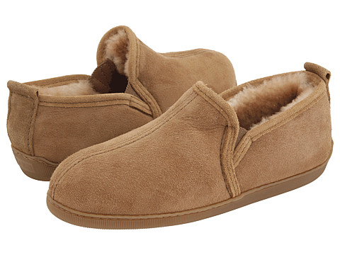 Minnetonka - Twin Gore Sheepskin (Golden Tan Sheepskin) Men's Slippers