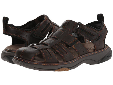 Clarks - Charles (Brown Oily Leather) Men's Sandals