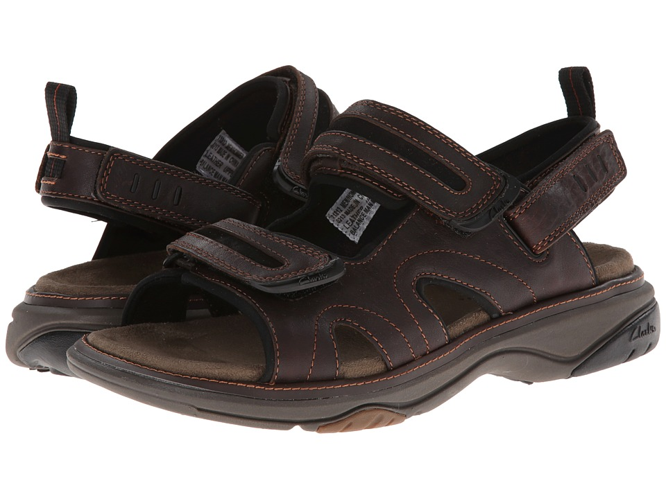 Clarks - Hudson (Brown Oily Leather) Men's Sandals