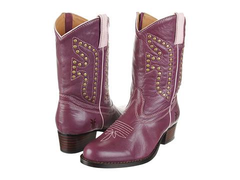 Frye Kids - Rodeo (Toddler/Little Kid/Big Kid) (Plum) Cowboy Boots