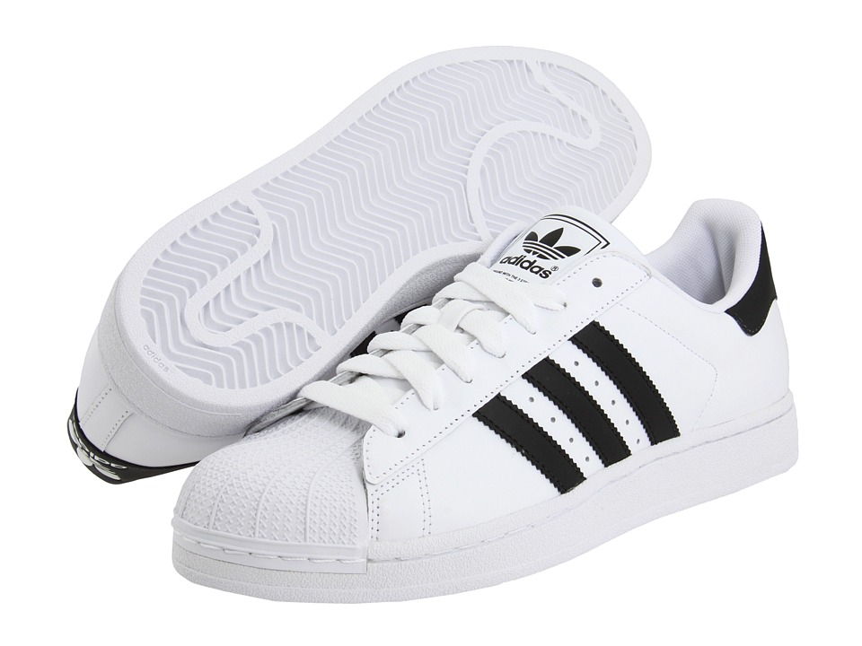 adidas Originals - Superstar 2 (White/Black) Classic Shoes