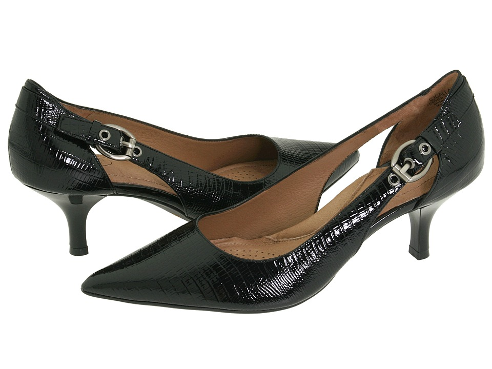 Circa Joan & David - Callalily (Black Reptile) High Heels