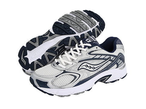 Saucony - Grid Cohesion 3 (White/Navy/Silver) Men's Running Shoes