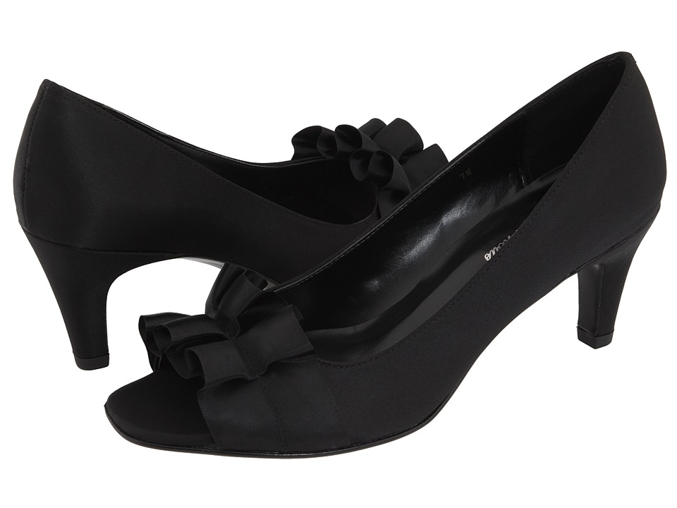 Vaneli - Madora (Black Satin) Women's Bridal Shoes