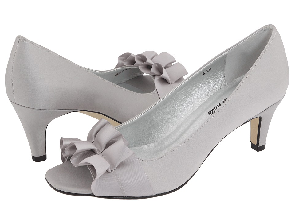 Vaneli - Madora (Silver Satin) Women's Bridal Shoes