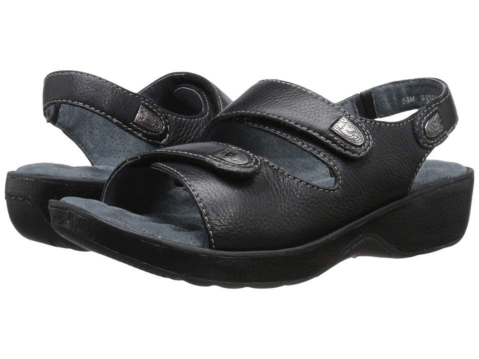 SoftWalk - Bolivia (Black Tumbled Glove Leather) Women's Sandals