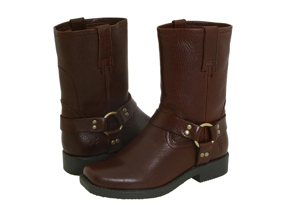 Frye Kids - Harness Pull On (Toddler/Little Kid/Big Kid) (Brown) Cowboy Boots