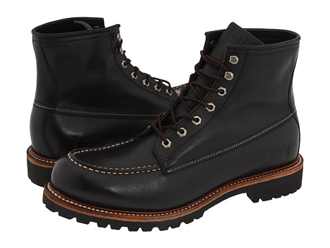 Frye - Dakota Mid Lace (Black) Men's Dress Lace-up Boots