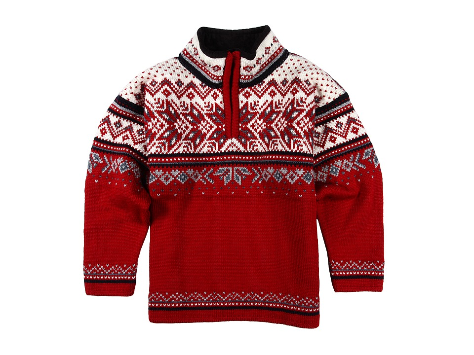 Dale of Norway - Vail (Toddler/Little Kids/Big Kids) (Red Rose/Midnight Navy/Off-White/Steel/Silver) Sweater