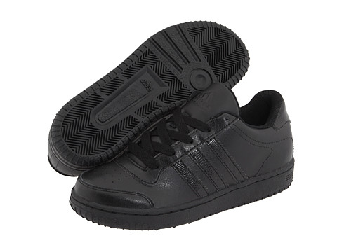 adidas Kids - Supercup Low (Little Kid/Big Kid) (Black/Black/Black) Kids Shoes
