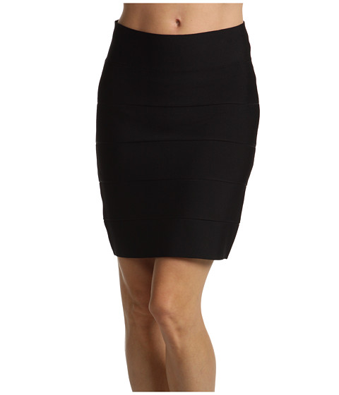BCBGMAXAZRIA - Simone Bandage Skirt (Black) Women's Skirt
