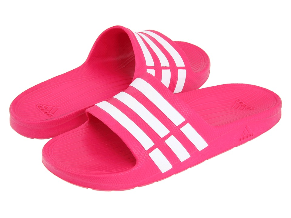 adidas Kids - Duramo Slide (Toddler/Little Kid/Big Kid) (Pink Buzz/Running White/Pink Buzz) Girls Shoes