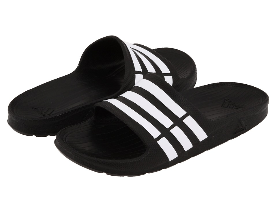 adidas Kids - Duramo Slide (Toddler/Little Kid/Big Kid) (Black/Running White/Black) Kids Shoes