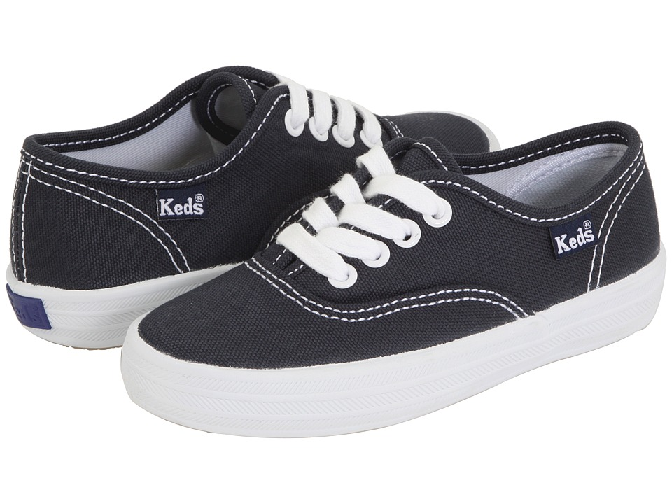 Keds Kids - Original Champion CVO (Toddler/Little Kid) (Navy Canvas) Girls Shoes