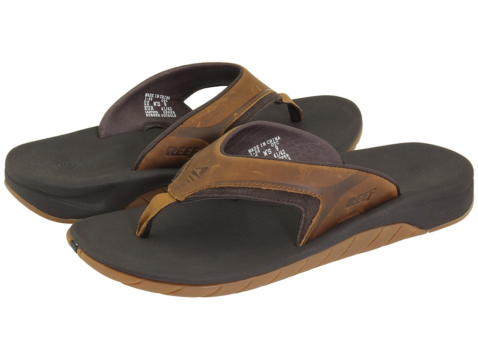 Reef - Leather Slap II (Dark Brown) Men's Sandals