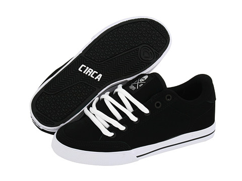 Circa - Lopez 50 (Black/Black/White Multi Snake) Men's Skate Shoes
