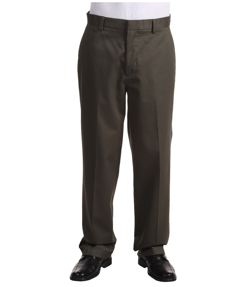 Dockers Men's - Signature Khaki D3 Classic Fit Flat Front (Dark Olive) Men's Casual Pants