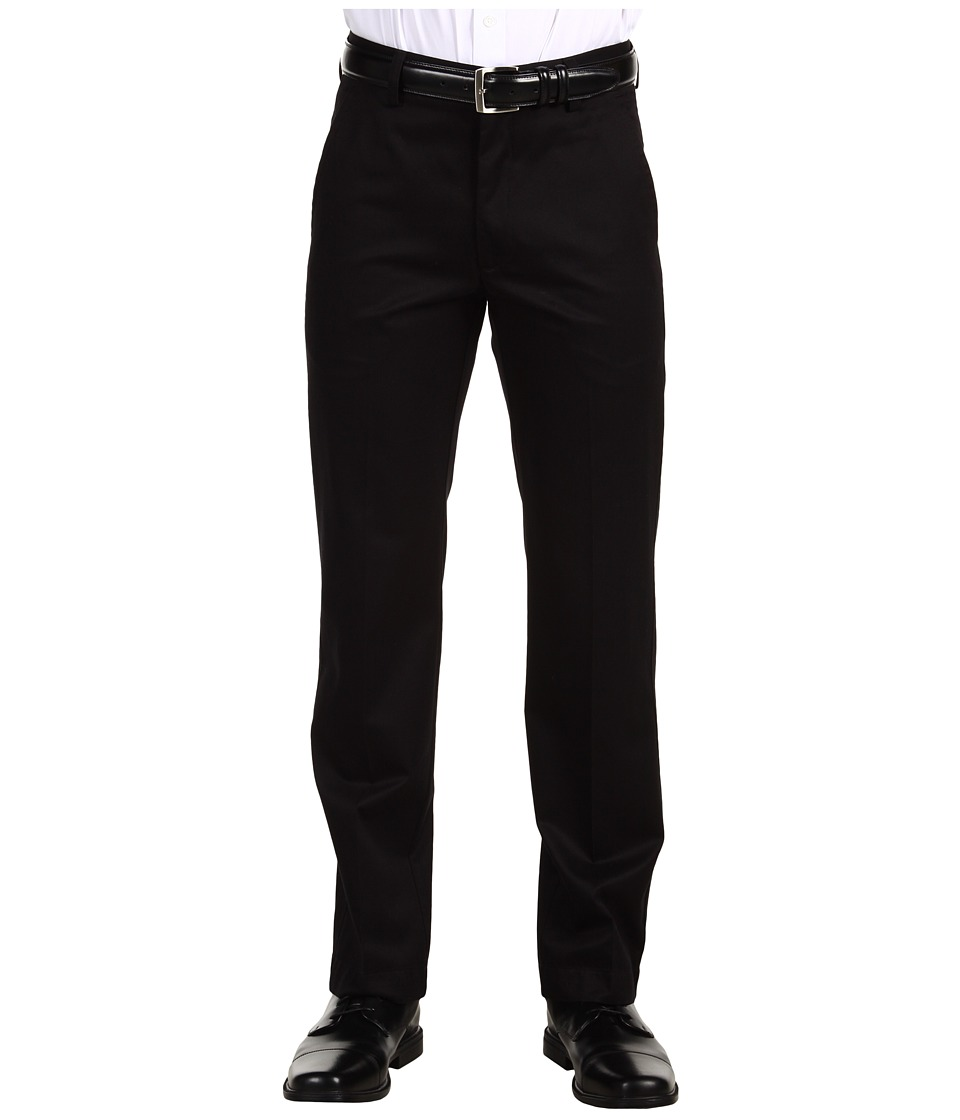 Dockers Men's - Signature Khaki D1 Slim Fit Flat Front (Black) Men's Dress Pants