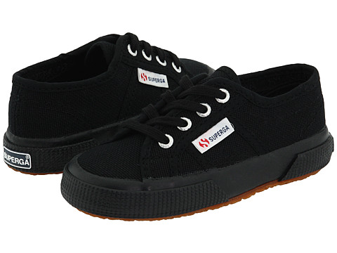 Superga Kids - 2750 JCOT Classic (Toddler/Little Kid) (Full Black) Kids Shoes
