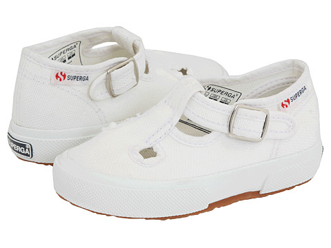 Superga Kids - 205 COTJ (Toddler/Little Kid) (White) Kid's Shoes