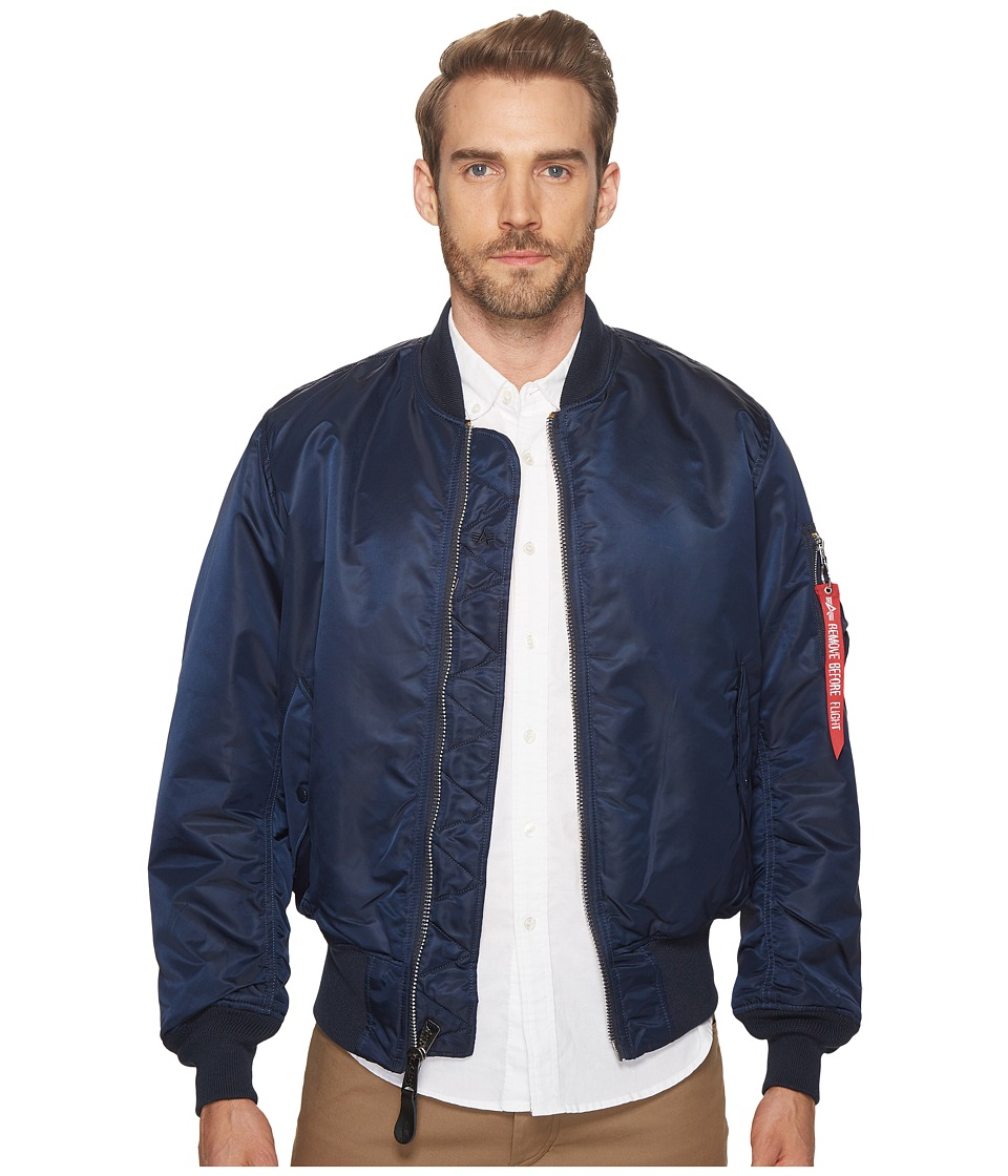 Alpha Industries - Alpha MA-1 Flight Jacket (Replica Blue) Men's Jacket