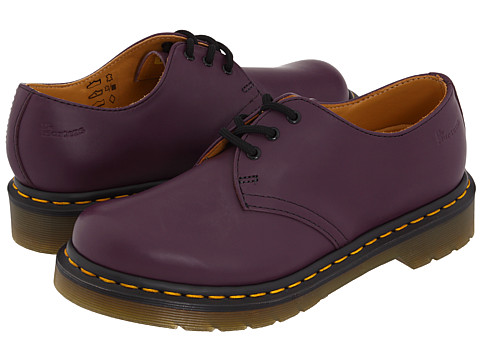 Dr. Martens - 1461 3-Eye Gibson (Purple Smooth) Lace up casual Shoes