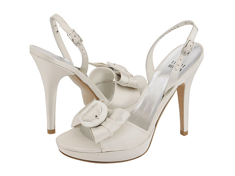 Stuart Weitzman Bridal & Evening Collection - Francois (Ivory Satin) Women's Bridal Shoes
