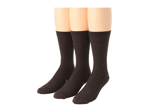 Smartwool - Cable 3-Pair Pack (Chestnut Heather) Women's Crew Cut Socks Shoes
