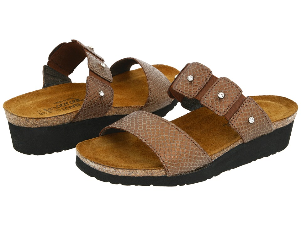 Naot Footwear - Ashley (Brown Lizard Leather) Women's Sandals